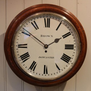 Large Oak Factory Wall Dial Clock