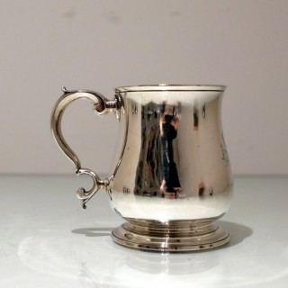 Early 18th Century Antique George II Sterling Silver Childs Mug London 1739 Thomas Farren