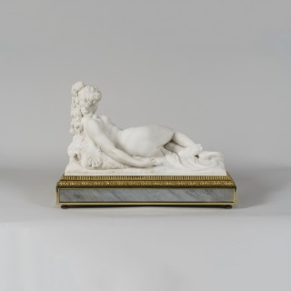 Marble Figural Mantle Clock By Henry Dasson