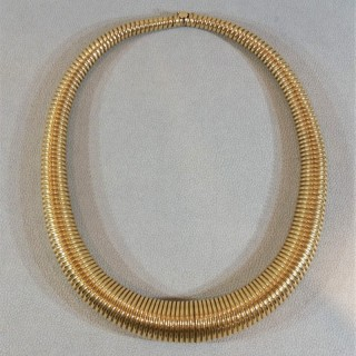 Gold Torque gas pipe necklace c.1940,s