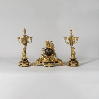 A Napoleon III Garniture de Chéminée By Henri Picard