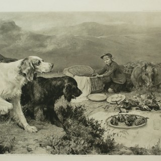 Highland Scene By Alfred Strutt, Game, Shooting Picture