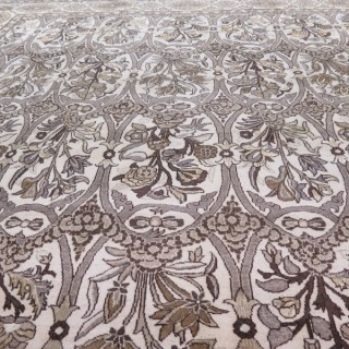 Striking 'Arts & Crafts' Qum carpet