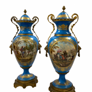 Pair of French Sevres style Vases