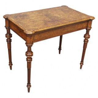 Victorian Inlaid Burr Walnut Games Table