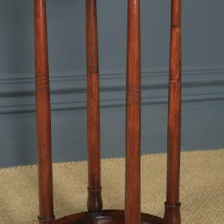 Antique English Victorian Mahogany Circular Stick & Umbrella Hall / Snooker Cue Stand (Circa 1860)