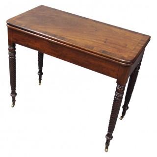 Irish Regency Mahogany Foldover Tea Table