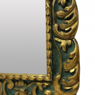 A LARGE EARLY XIX CENTURY SPANISH MIRROR