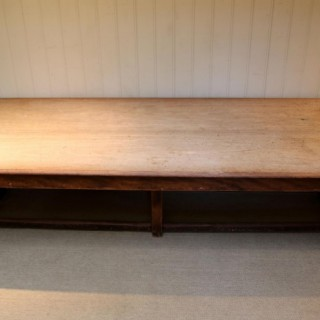 Large Light Mahogany School Refectory Table