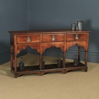 Antique Welsh Georgian Oak Potboard Low Dresser Base Sideboard (Circa 1810)