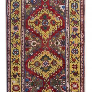 Antique Caucasian Area rug 105x289cm