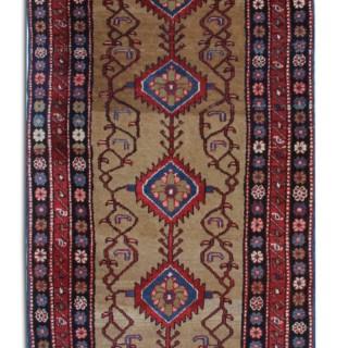 Antique Persian Rug- Handwoven Wool Runner Rug 107x427cm