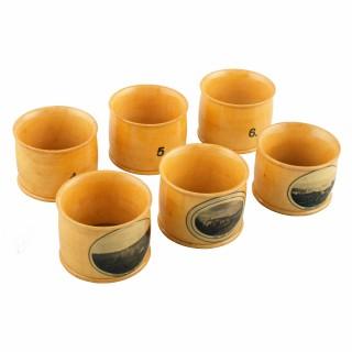 Set of Mauchline Ware Napkin Rings