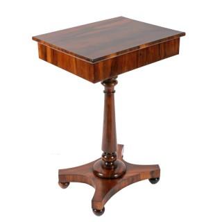 George IV Zebra Wood Lamp Table