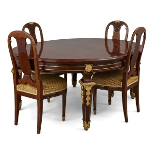 Antique Louis XVI style dining table by Mercier Frères