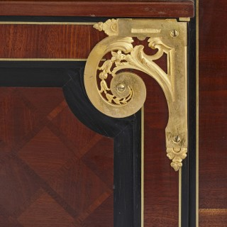 Gilt bronze mounted mahogany side cabinet by Mercier Frères