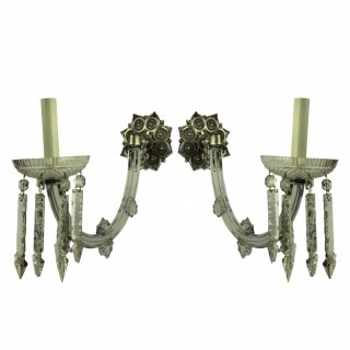 PAIR OF XIX CENTURY SINGLE ARM SCONCES
