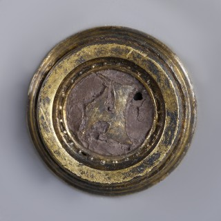Medieval Silver Applique with Owner's Initial