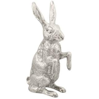 Sterling Silver Hare Sugar Box - Antique Victorian