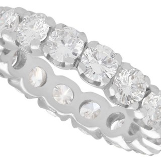 2.88 ct Diamond and 18 ct White Gold Full Eternity Ring - Vintage Circa 1980