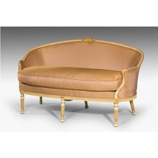Louis XVI Period Parcel Gilt Canapé