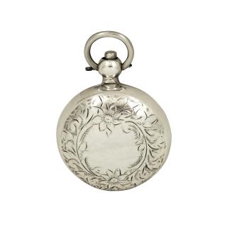 Antique Edwardian Sterling Silver Sovereign Case 1907