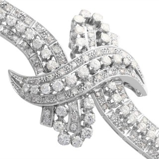 8.08 ct Diamond and Platinum Bracelet - Antique Circa 1935