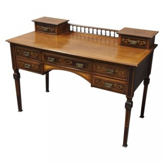 Sheraton Style Inlaid Mahogany Desk