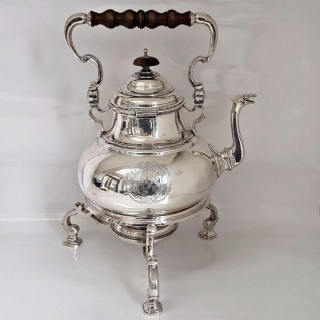 George I Silver Tea Kettle