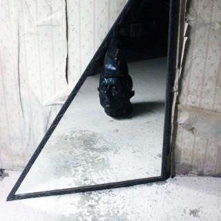An Unusual Mid-Century French Iron Framed Triangular Wall Mirror c.1940