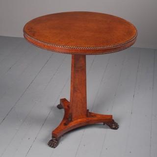 Regency Circular Amboyna Occasional Table