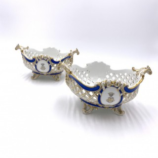 Marcolini Period Meissen Porcelain Open Work Fruit Basket