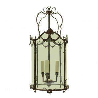 A FRENCH BRONZE HANGING LANTERN