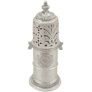 Britannia Standard Silver Lighthouse Style Sugar Caster - Antique William III