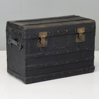 Metal Bound Black Trunk