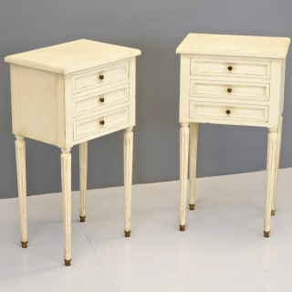 Pair of Painted Bedside Drawers