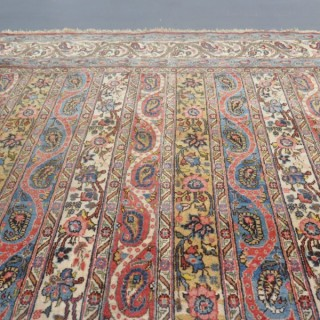 Rare pair of fine Qum rugs