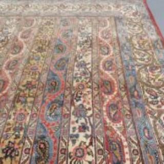 Rare pair of fine Qum rugs
