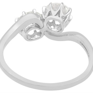 1.29ct Diamond and Platinum Twist Ring - Antique Circa 1910