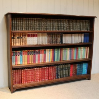 Large Solid Oak Open Bookcase