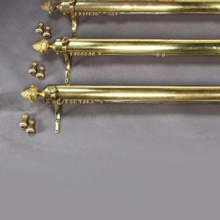 Set Of Five Brass Curtain Rails Removed From Downing Street.
