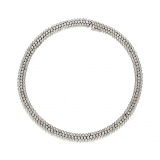Cartier, Paris - Ultra flexible Platinum Diamond Necklace circa. 1970/80s
