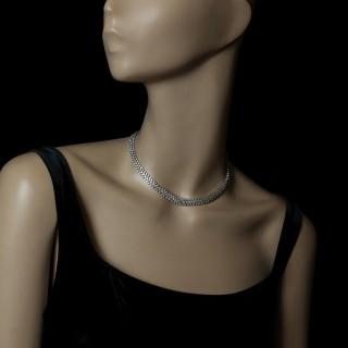 Cartier, Paris - Ultra flexible Platinum Diamond Necklace circa. 1970/80s