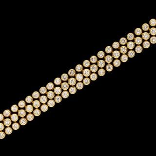 Cartier Paris - Ultra Flexible 18ct Gold Diamond Bracelet circa 1970s