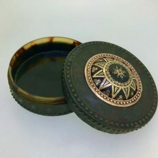 Tortoiseshell and Gold Snuff Box