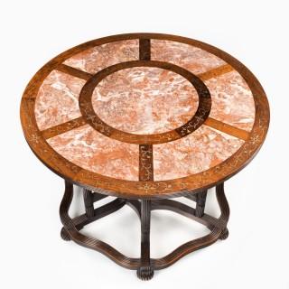 A rare Anglo-Chinese hardwood picnic table