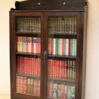 Arts And Crafts Dark Oak Bookcase
