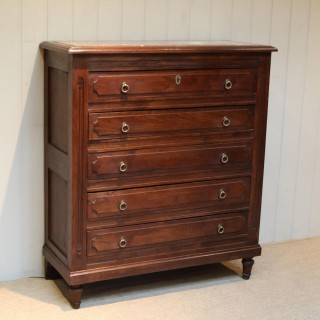 French Oak Chest Of Drawers