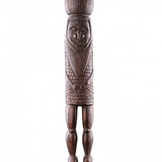 Rare Melanesian New Caledonian Kanak Ceremonial Mourning Figure of a Masked Dancer