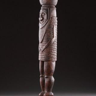 Rare Melanesian New Caledonian Kanak Ceremonial Mourning Figure of a Masked Dancer